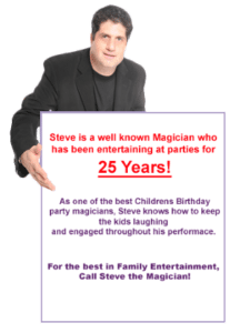 steve the magician party entertainer