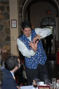 magician performing at an event