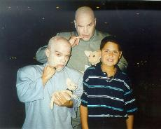 dr evil and mini me celebrity impersonator