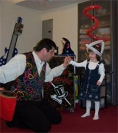 magician at kids party